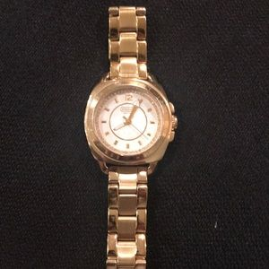 Coach gold link watch authentic